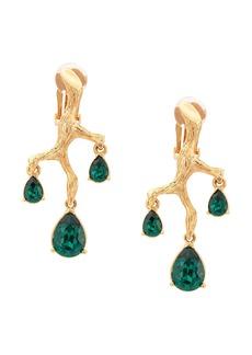 Oscar de la Renta Branch crystal earrings