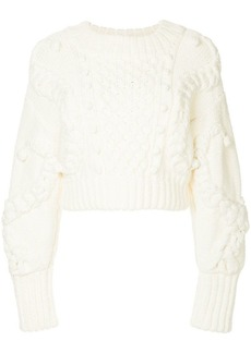 Oscar de la Renta cable knit sweater