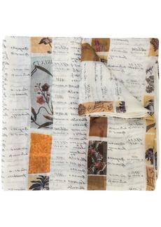 Oscar de la Renta Calligraphy print scarf