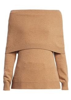 Oscar de la Renta Cashmere Off-The-Shoulder Sweater