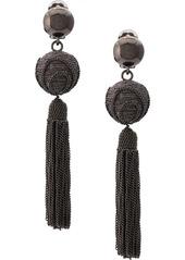 Oscar de la Renta chain tassel earrings