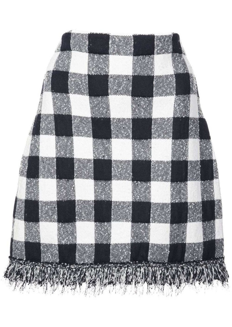 Oscar de la Renta checked mini skirt
