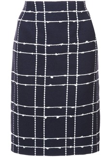 Oscar de la Renta checked straight skirt