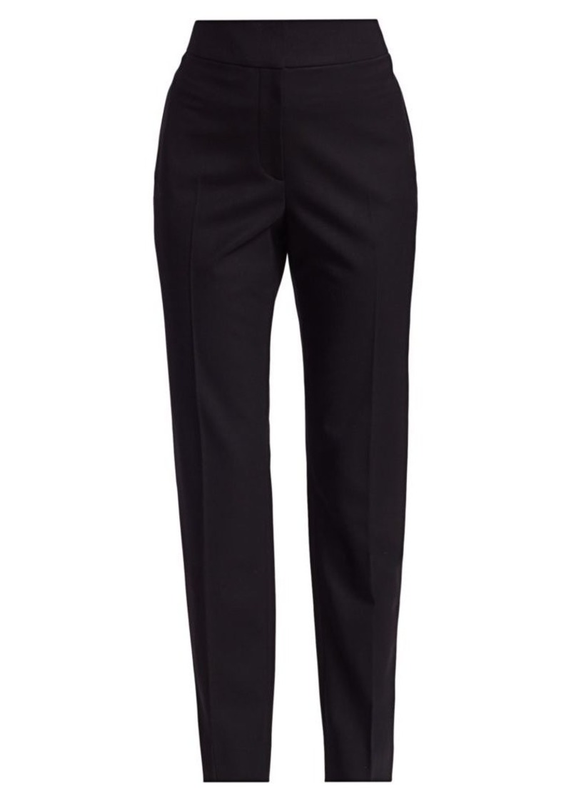 Oscar de la Renta Cigarette Stretch-Wool Pants
