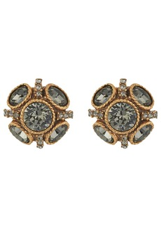 Oscar de la Renta Classic Button P Earrings