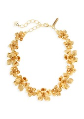 Oscar de la Renta Classic Goldtone Flower Necklace