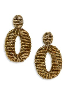 Oscar de la Renta Classic Oscar Beaded O Clip-On Earrings