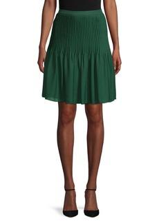 Oscar de la Renta Classic Pleated Skirt
