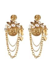 Oscar de la Renta Coin Charm Earrings
