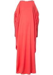 Oscar de la Renta cold-shoulder tassel-embellished gown