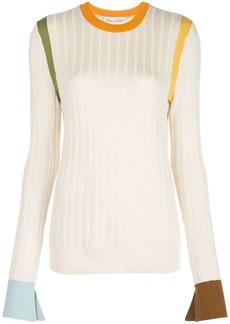 Oscar de la Renta colour block knitted jumper