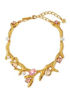 Oscar de la Renta Coral Choker Necklace w/ Swarovski® Crystals