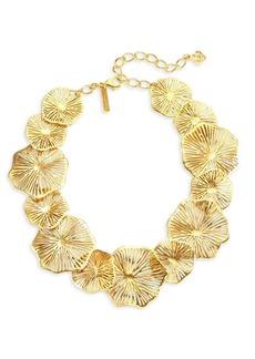 Oscar de la Renta Coral Lace Statement Necklace