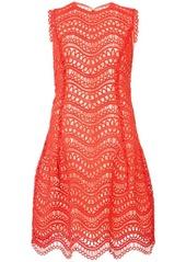 Oscar de la Renta crochet-knit scalloped-hem dress