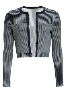 Oscar de la Renta Cropped Knit Cardigan