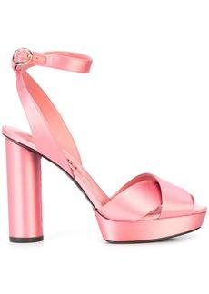 Oscar de la Renta crossover patform sandals