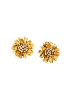 Oscar de la Renta crystal-embellished flower earrings