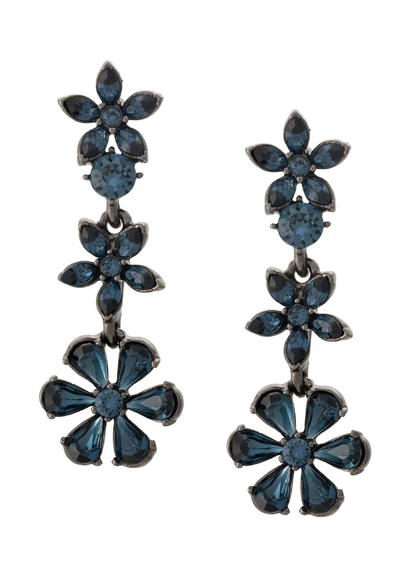 Oscar de la Renta crystal-embellished pendant earrings