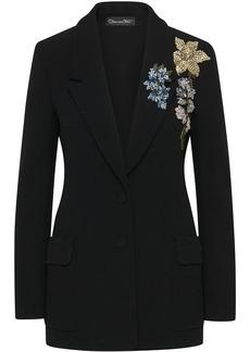 Oscar de la Renta crystal-embellished tailored blazer