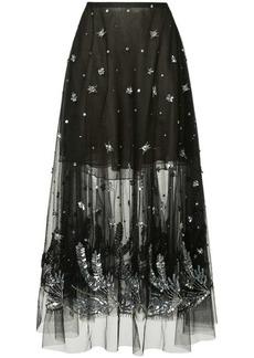 Oscar de la Renta crystal floral skirt