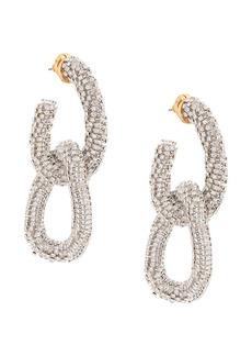 Oscar de la Renta crystal-link drop earring