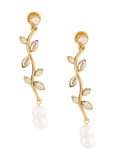 Oscar de la Renta crystal stem earrings