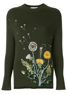 Oscar de la Renta dandelion-embroidered sweater