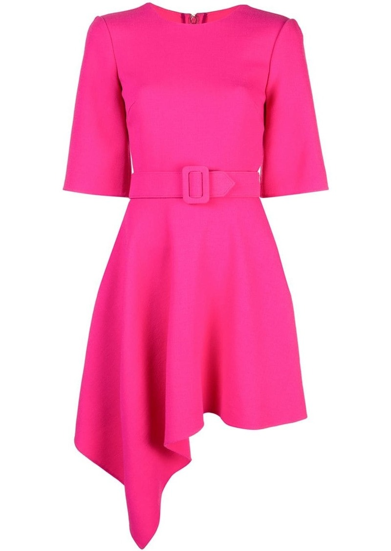 Oscar de la Renta drape front mini belted dress