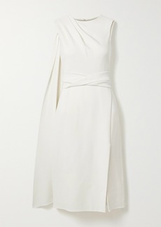 Oscar de la Renta Draped Wool-blend Dress