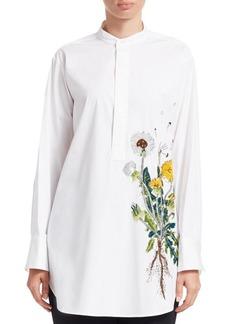 Oscar de la Renta Embellished Dandelion Tunic