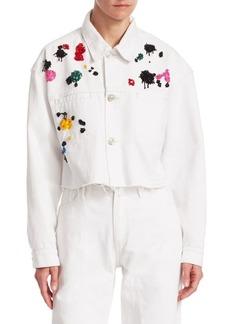 Oscar de la Renta Embellished Denim Jacket