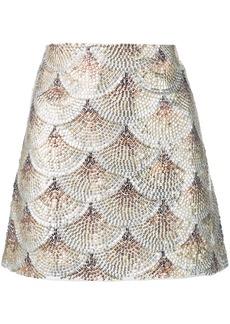 Oscar de la Renta embellished fan skirt