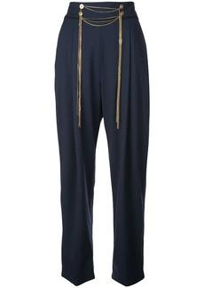 Oscar de la Renta chain-embroidered trousers