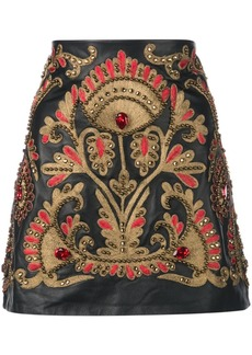 Oscar de la Renta embellished mini A-line skirt