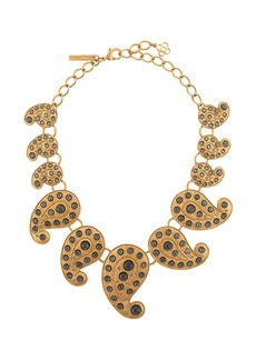 Oscar de la Renta embellished paisley necklace