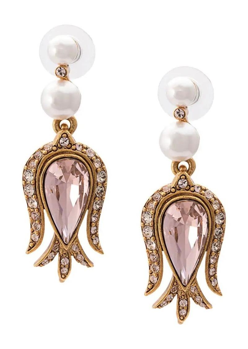 Oscar de la Renta embellished stud earrings