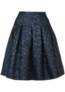 Oscar de la Renta embroidered bird skirt