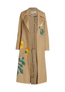 Oscar de la Renta Embroidered Trench Coat