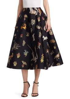 Oscar de la Renta Enchanted Forest A-Line Skirt