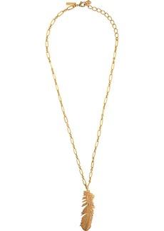Oscar de la Renta feather pendant necklace