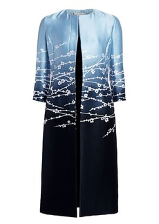 Oscar de la Renta Fine Woven Floral Jacket