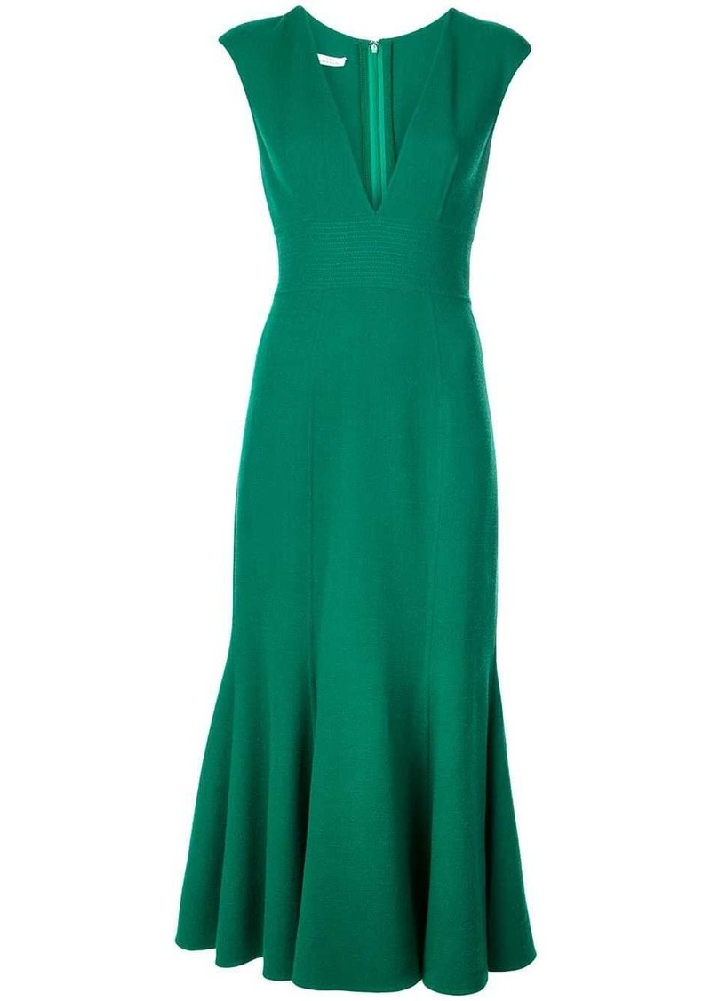 Oscar de la Renta fishtail midi dress