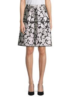 Oscar de la Renta Floral A-Line Skirt