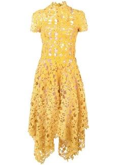 Oscar de la Renta floral crochet dress