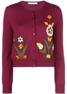 Oscar de la Renta floral embroidery cardigan