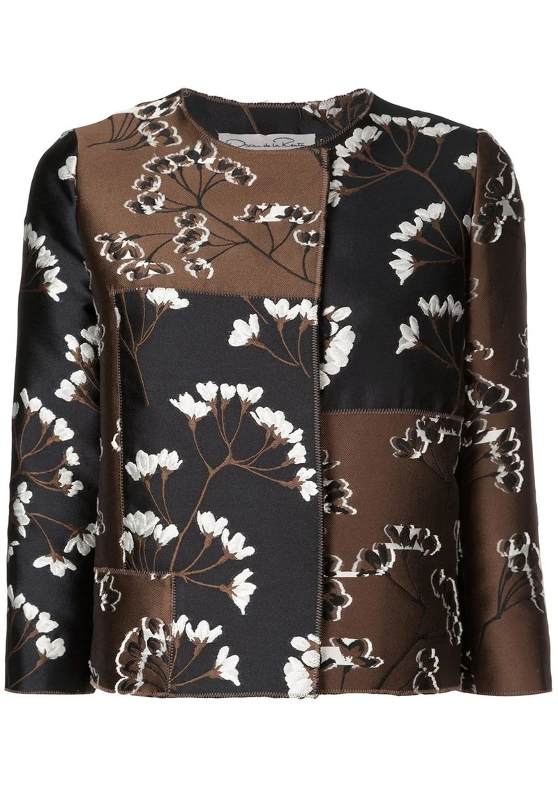 Oscar de la Renta magnolia blossom jacket