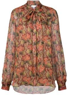 Oscar de la Renta floral long-sleeve blouse