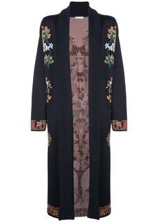 Oscar de la Renta floral pattern cardigan