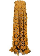 Oscar de la Renta floral embroidered dress