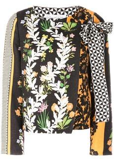 Oscar de la Renta floral print fitted jacket